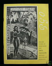 Paul Gaugin 1955 Exhibition Catalogue - Tate Gallery