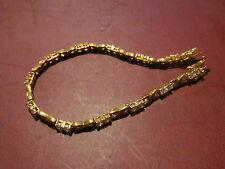 """Gold Plated Kisses  Bracelet with Mini Rhinestones 7"""" Mothers Day"""