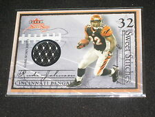 RUDI JOHNSON BENGALS LEGEND AUTHENTIC EVENT GAME USED JERSEY FOOTBALL CARD #/246