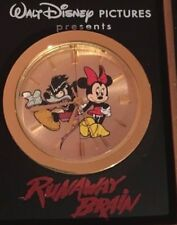 Disney Runaway Brain Resin Clock in Box with COA Angry Scary Mickey Mouse