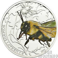 2011 Palau BUMBLE BEE - World of Insects Series - Sterling Silver Coin Box+COA