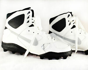 Nike Air Shark Cleats Sneakers Size 10 Deadstock NIB White High Tops 1980s 90s