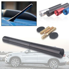 "4.7"" Universal Auto Car Antenna Carbon Fiber Radio FM Antena Black Kit + Screw"