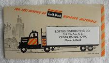 1953 Loftus Trucking, Gold Bond Building, Cedar Rapids, Iowa IA Ink Blotter