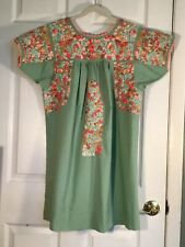 Gorgeous Sister Mary With Lovely Hand Embroidery Oaxacan Mexican Style Dress
