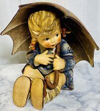 "Vintage Goebel Hummel Umbrella Girl Figurine - 152/B  Germany 8"" Tall MINT"
