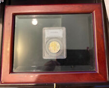 Wood And Glass Display box for one graded coin Pcgs-Ngc or other No Coin