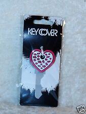 Pink White Heart Cheetah Key Cover Cap Personalize your Key