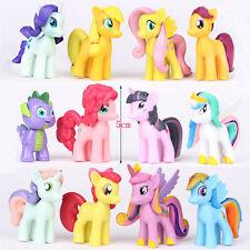 Set 12 My Little Pony Action Figures Lot Spike Celestia Rainbow Dash Pony New