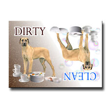 GREAT DANE Clean Dirty DISHWASHER MAGNET No 5 FAWN