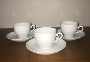 3 Vintage Arzberg Schumann Teacups And Saucers Sets Made In Germany