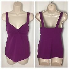 73 Victoria Secret VS BRA TOPS M Purple Tank Top Sleeveless Shelf Support Cami