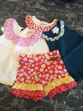 matilda jane Size 2 Lot. 3 Tank tops And a Cute Pair Of Shorties.  No Stains.