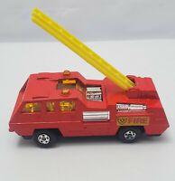 Matchbox N°22 BLAZE BUSTER FIRE 1975 LESNEY  ENGLAND RED