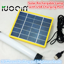 Portable Solar Panel Rechargable LED Lamp Camping Light with USB charging port