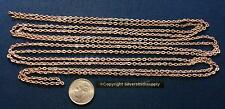 6 Ft LIGHT rose gold plated flat cable chain 3mm x 2mm 1/8 in 13 links/in pch076