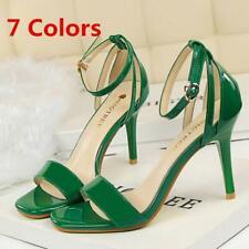 Summer  Women Sandals Ankle Strap Stiletto Heels Open Ladies Party Pumps Shoes