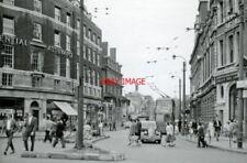 PHOTO  LONDON 1959 HAMMERSMITH BROADWAY NORTHWARD UP SHEPHERDS BUSH RD