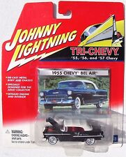 JOHNNY LIGHTNING R4 TRI-CHEVY 1955 CHEVY BEL AIR CONVERTIBLE White wall tires