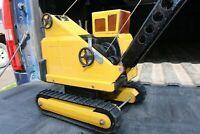 Mighty Tonka Cranemaster Crawler Tracked Crane - pressed steel - Canadian