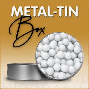 Golf Design Round Metal Gift Tin Box