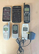 LOT 6 CELL PHONE VINTAGE SMARTPHONE LG HTC AUDIOVOX KYOCERA GALAXY SII NOKIA