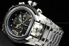 Invicta Men 52mm Bolt Zeus MAGNUM Black Silver Chrono Dual Time Swiss Watch