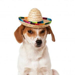 Pet Sombrero Hat, Straw Sombrero Hats Mexican Hats For Small Pet/Puppy/Cats LI