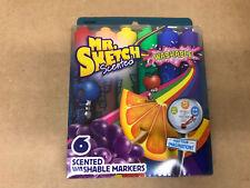 Mr. Sketch Fruit Scented Water Color Washable Marker Set 6 Pack Count Chisel Tip