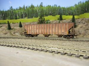 Ho weathered freight cars custom covered hopper intermountain HPJX