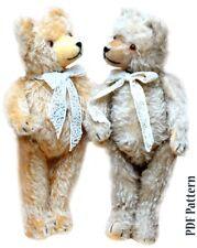 A4 Sewing Pattern Antique 1930 Teddy Bear 20 inch (50cm) KOZLOVA Artist design