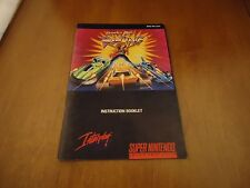 Rock 'N Roll Racing Super Nintendo SNES Instruction Manual Booklet ONLY