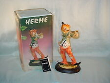 VINTAGE HERME POLYESTER RESIN CLOWN WITH HORN IN ORIGINAL BOX