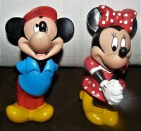 """Disney 3D Figurine Mickey Mouse and Minnie Mouse 5"""" Tall"""