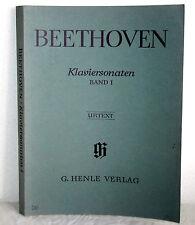 BEETHOVEN Klaviersonaten Band 1 - Urtext - B.A. Wallner / Fingersatz C. Hansen