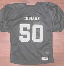 d39fe447 *BRAND NEW* YOUTH XL - BLACK FOOTBALL JERSEY * IMPRINTED INDIANS #50