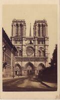 Nôtre-Dame de Paris Photo cdv Vintage albumine ca 1860