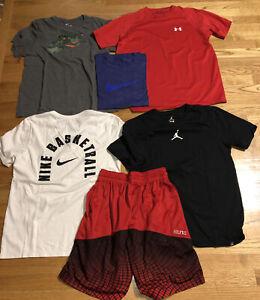 Lot Of 6 Men's Medium T-shirts Shorts Nike Elite Under Armour Tee Good Condition