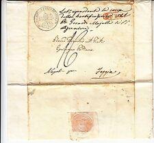 1837 lettera SORA-FOGGIA Congreg.BEATIFICAZIONI AUTOGRAFO Cardinale ALBANI-f639