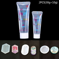 2xCrystal Clear ResinPigment Epoxy Transparent clear Resin Art Craft for DIY Fad