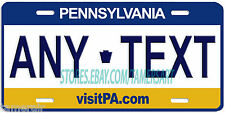 PENNSYLVANIA STATE LICENSE PLATE PERSONALIZED