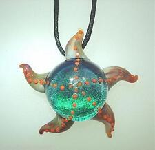 Lampwork Dichroic Color Glass Hawaiian Hoku Kai Starfish Pendant Adjustable #6