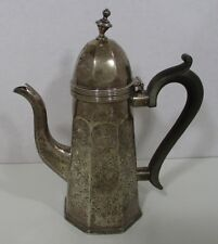 """Vintage 7¾"""" Sterling Silver Tea Pot/Coffee Pot George Nathan & Ridley Hayes .925"""