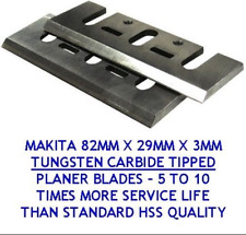 "2pk Carbide Planer Blades for Dewalt Makita Bosch Planers 3-1/4"" (82mm)"