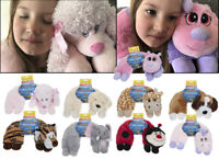 NEW Luxury Kids Childrens Travel Pillow Neck Support Car Cushion Soft Toy Animal