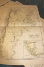 #4122,Large Map SOUTHERN STATES SOUTH AMERICA 1875, From Hardesty Atlas