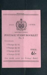 SAMOA 1965-67 6 shilling BOOKLET (SG SB11a) VF MNH