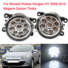 Pair LED Fog Lights For Renault Koleos Kangoo HY 2008-2015 Megane Saloon Thalia