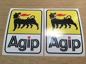 X2 AGIP F1 racing Ducati Derbi Sportscar / Motorcycle decal stickers 97 x 70mm