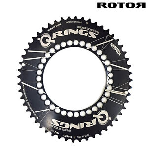 ROTOR QRINGS Road Aero Chainring 130BCD x 5  9-10 Speed - 52,53T,39T